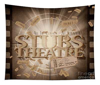 Old Stubs Theatre Advert Tapestry