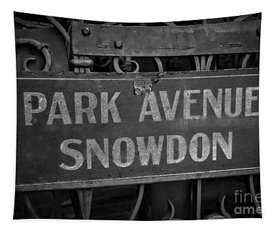 Old Trolley Station Sign Park Avenue Tapestry