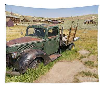 Old Truck At The Ghost Town Of Bodie California Dsc4395 Tapestry