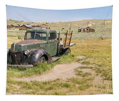 Old Truck At The Ghost Town Of Bodie California Dsc4404 Tapestry