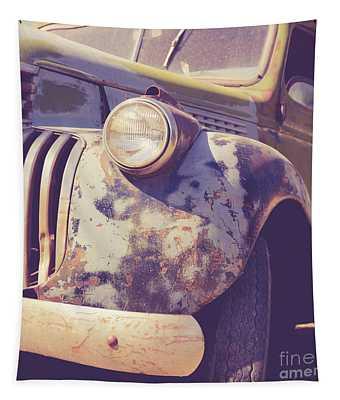 Old Vintage Pickup Truck Utah Square Tapestry