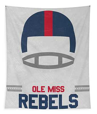 Ole Miss Rebels Vintage Football Art Tapestry