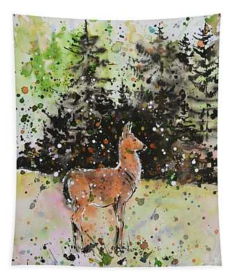 Black-tailed Deer In The Hurricane Ridge Tapestry