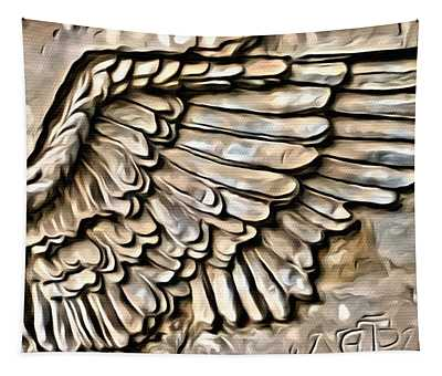 On Angels Wings Tapestry