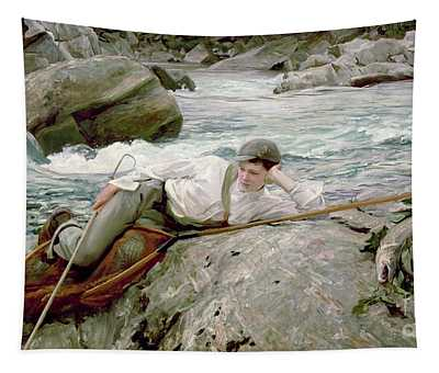 On His Holidays Tapestry