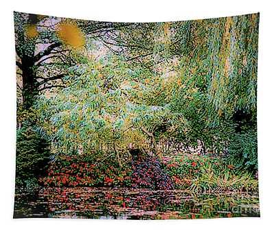 Reflection On, Oscar - Claude Monet's Garden Pond Tapestry