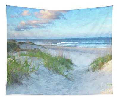On The Beach Watercolor Tapestry