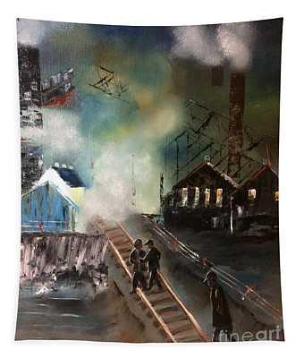 On The Pennsylvania Tracks Tapestry