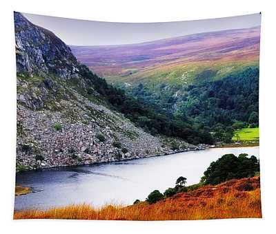 On The Shore Of Lough Tay. Wicklow. Ireland Tapestry