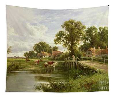 On The Thames Near Marlow Tapestry