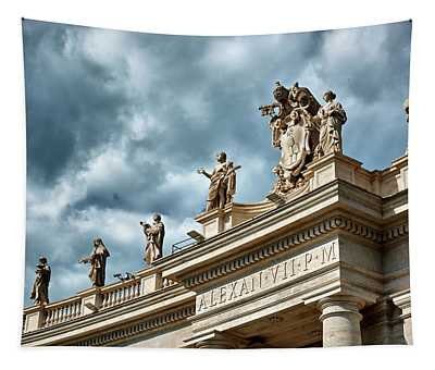 On Top Of The Tuscan Colonnades Tapestry