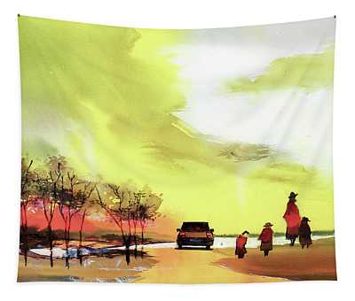 On Vacation Tapestry