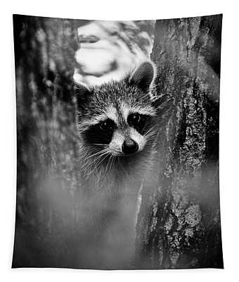 On Watch - Bw Tapestry