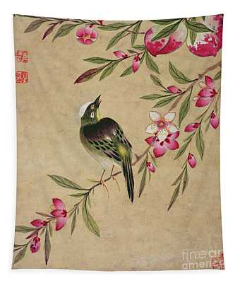 One Of A Series Of Paintings Of Birds And Fruit, Late 19th Century Tapestry