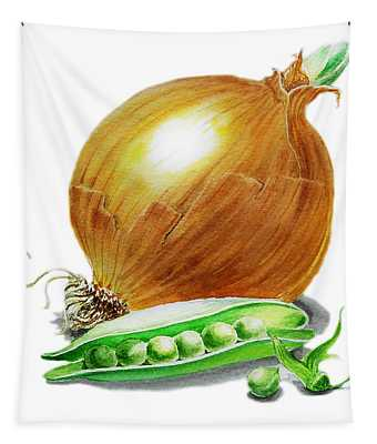 Onion And Peas Tapestry