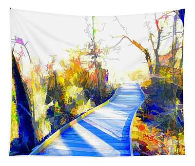 Open Pathway Meditative Space Tapestry
