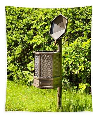 open public rubbish bin in Baths Royal Park  Tapestry
