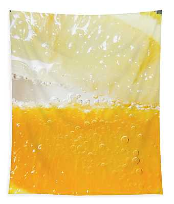 Orange And Lemon In Cocktail Glass Tapestry