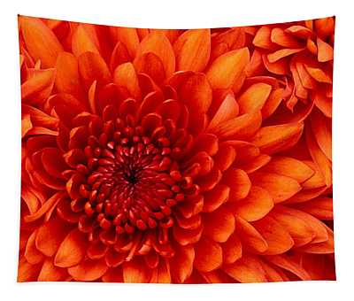 Orange Bloom Tapestry