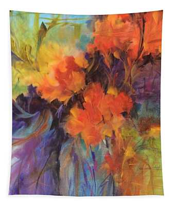 Orange Bouquet Tapestry