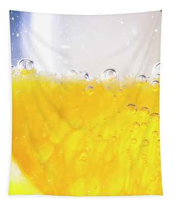Orange Cocktail Glass Tapestry