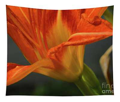 Orange Lily Tapestry