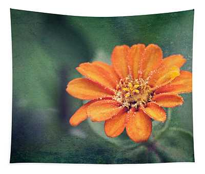 Orange Zinnia Tapestry