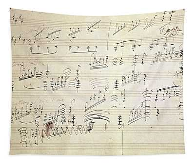 Original Score Of Beethoven's Moonlight Sonata Tapestry