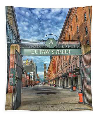 Oriole Park At Camden Yards - Eutaw Street Gate Tapestry
