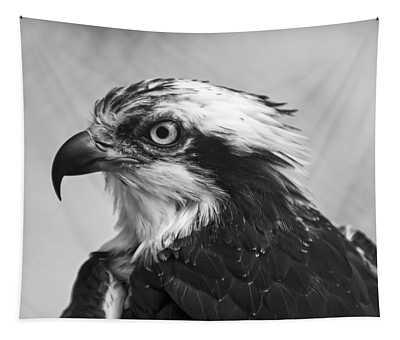 Osprey Monochrome Portrait Tapestry