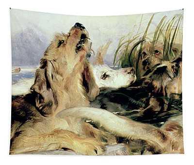 Otter Hounds Tapestry