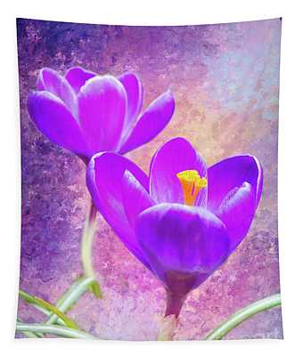 Our First Crocuses This Spring Tapestry