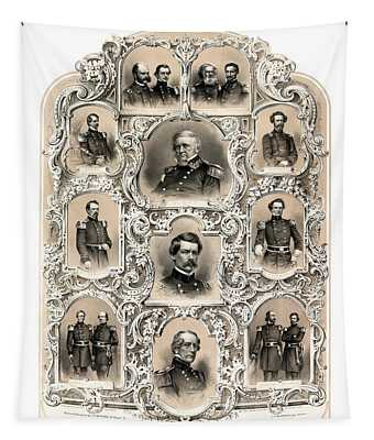 Our Generals -- Union Civil War Tapestry