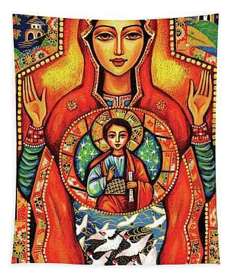 Our Lady Of The Sign Tapestry