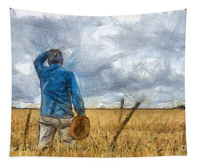 Out In The Fields Tapestry