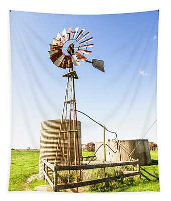 Outback Australian Farm Mill Tapestry