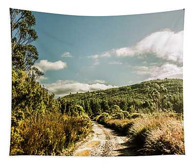 Outback Country Road Panorama Tapestry