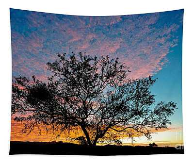 Outback Sunset Pano Tapestry