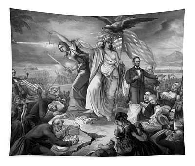 Outbreak Of Rebellion In The United States 1861 Tapestry