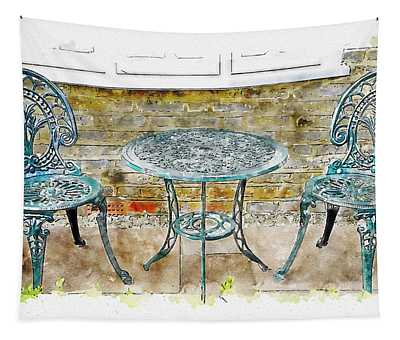 Outdoor Dining Tapestry