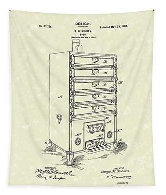 Oven Design 1900 Patent Art Tapestry