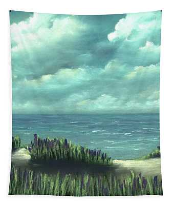 Tapestry featuring the painting Overcast by Anastasiya Malakhova