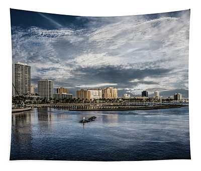 Overlooking West Palm Beach Tapestry