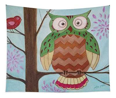 Owl Art Tapestry