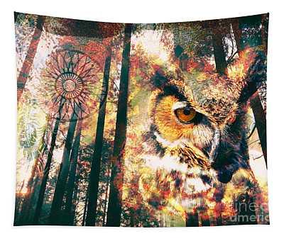 Owl Medicine 2015 Tapestry