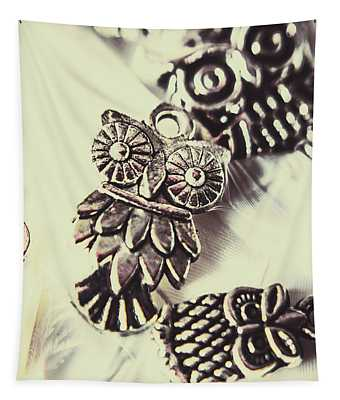 Owl Pendants. Charms Of Wisdom Tapestry