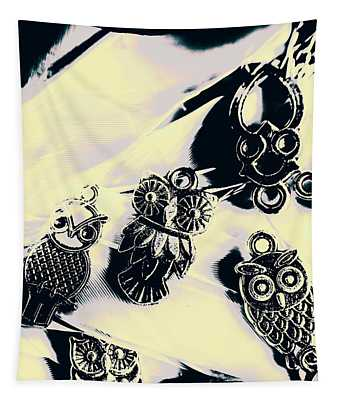 Owls From Blue Yonder Tapestry