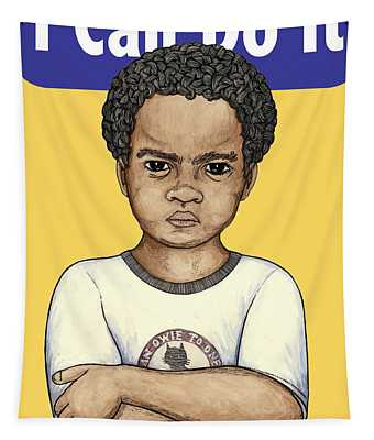 I Can Do It Myself Tapestry by Ricardo Levins Morales