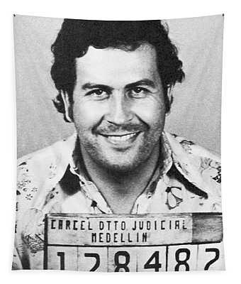 Pablo Escobar Mugshot Tapestry