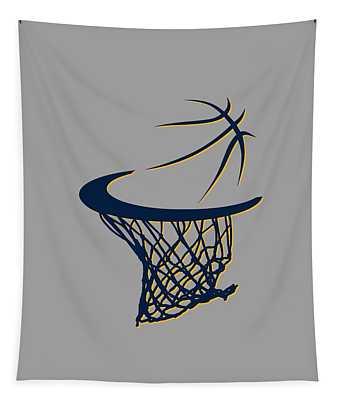 Pacers Basketball Hoop Tapestry